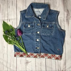 Tommy Hilfiger Denim Vest with Embroidery D1-121